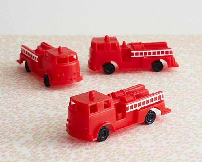 Fire Truck Cake Toy Novelty