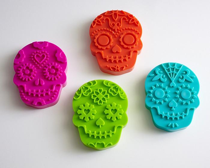 Sugar Skull Cookie Cutter Stamps