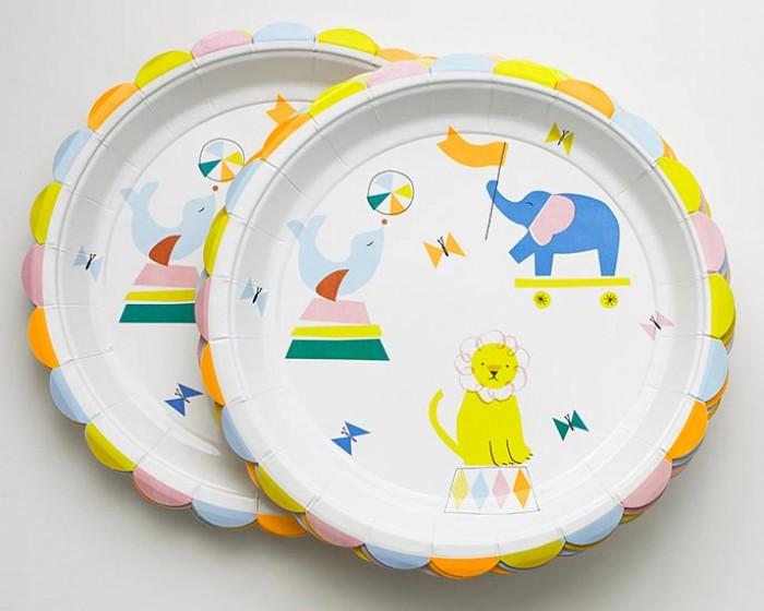 Circus Paper Plates & Large Circus Paper Plates - Set of 12 Cakegirls