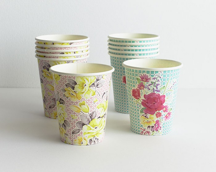 Floral Garden Paper Party Cups