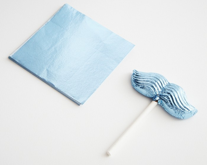 Light Blue Foil Candy Wrappers