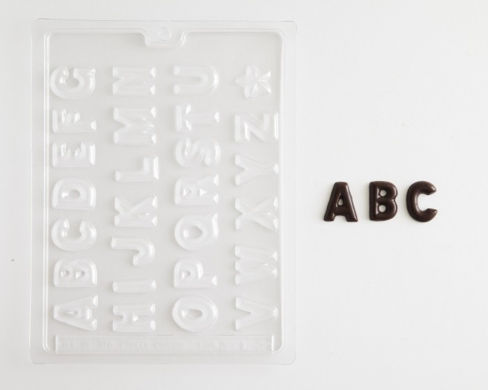 Puffy Letter Alphabet Set Chocolate Candy Mold