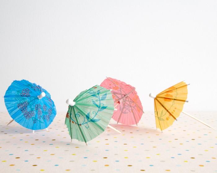 Cocktail Umbrella Paper Party Cupcake Cake Picks