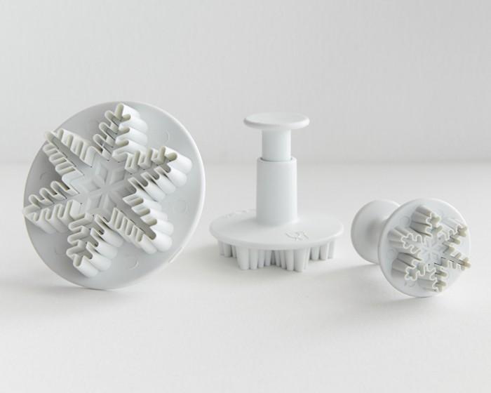 Snowflake Plunger Cutter Set Of 3 Cakegirls