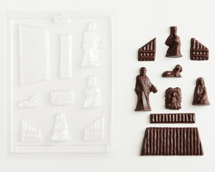 3-D First Christmas Nativity Manger Chocolate Candy Molds