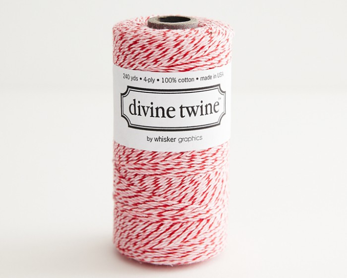 Red Pink Striped Peppermint Bakers Twine Decorative String