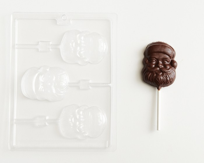 Santa Face Head Christmas Sucker Chocolate Mold