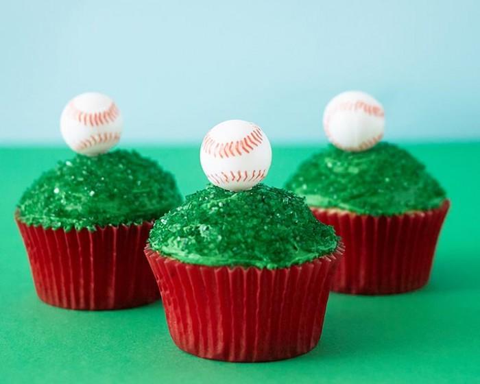Baseball Cupcake Novelty Picks