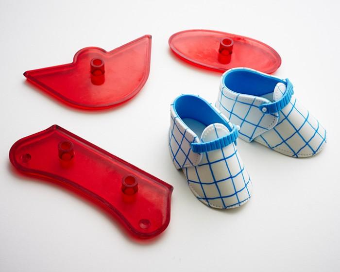 3-D Baby Bootie Shoe Gumpaste Fondant Cutter Set