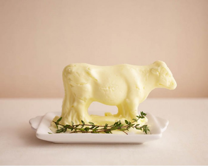molded butter lamb cow how to
