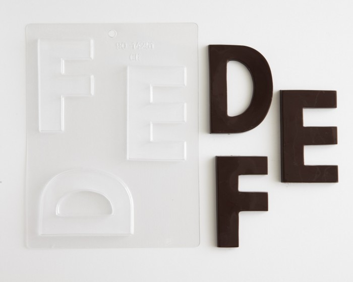 Block Letters Large D E F Chocolate Mold