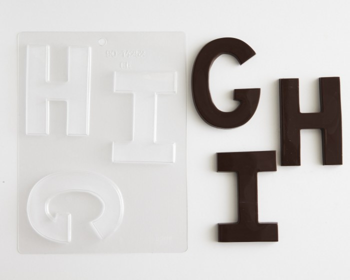 Block Letters Large G H I Chocolate Mold