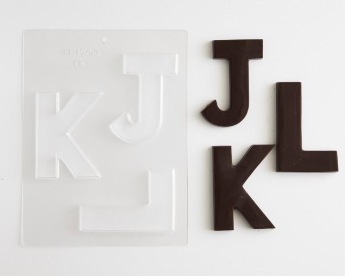 Block Letters Large J K L Chocolate Mold