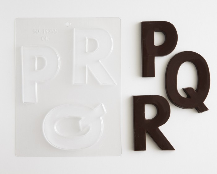 Block Letters Large P Q R Chocolate Mold
