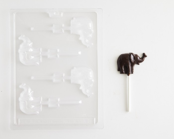 Circus Elephant Sucker Chocolate Mold