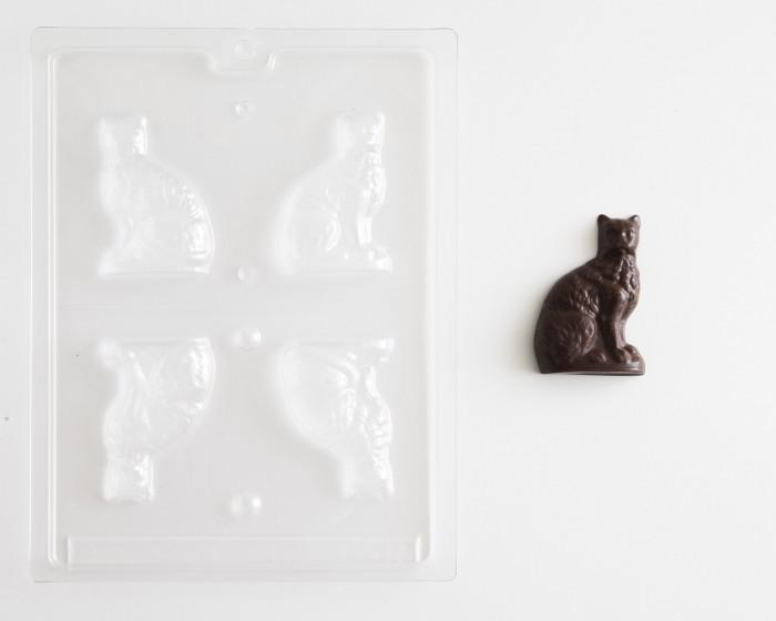 3-D Cat Chocolate Mold