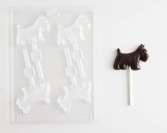 Scottie Dog Sucker Chocolate Mold