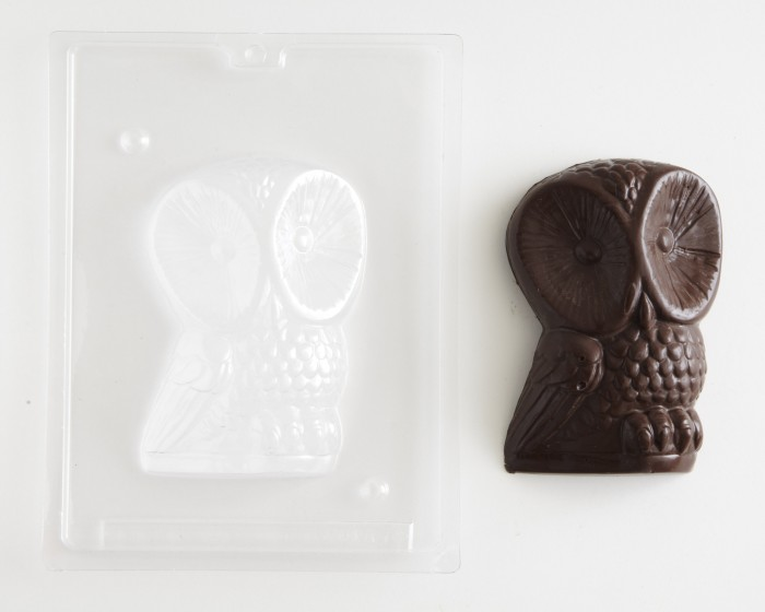 3-D Owl Front Shaped Chocolate Candy Mold