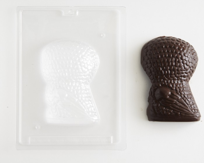 3d owl shaped back chocolate candy mold
