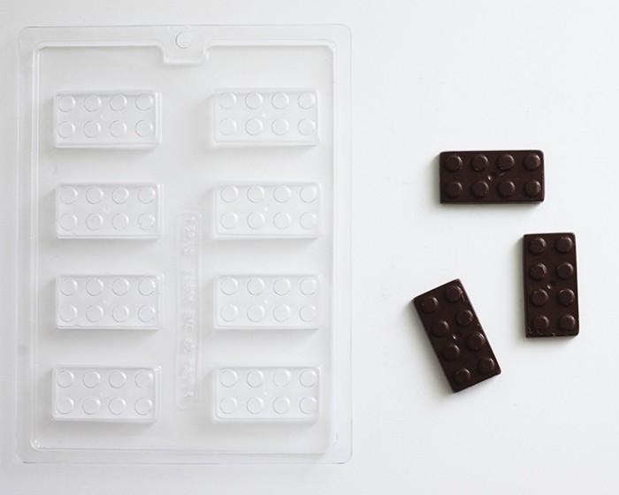 Lego Block Style Chocolate Mold