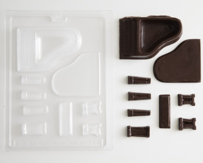 music 3-D piano chocolate candy molds