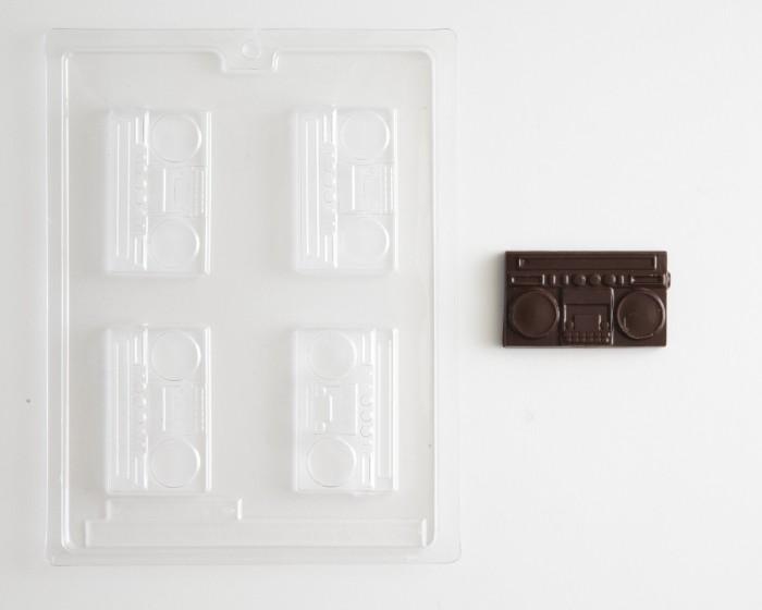 Boom Box Stereo Chocolate Mold