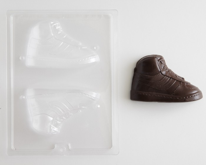 3-D High Top Tennis Shoe Chocolate Candy Mold