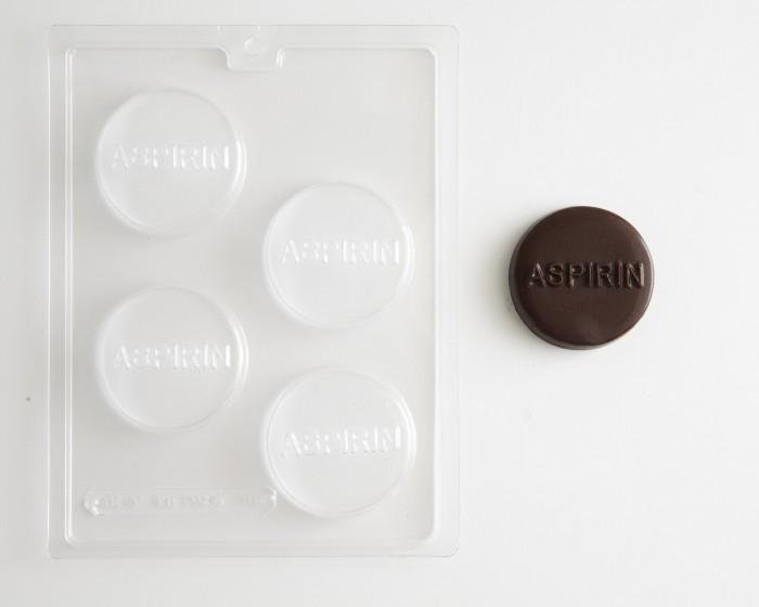 medical aspirin chocolate candy mold
