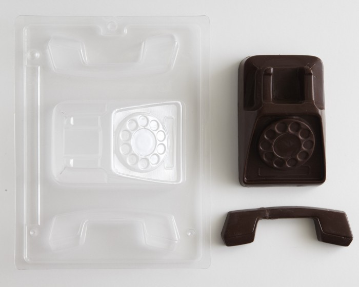 3-D Retro Rotary Telephone Chocolate Candy Molds