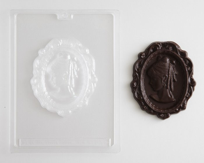 Victorian Lady Female Cameo Chocolate Candy Mold
