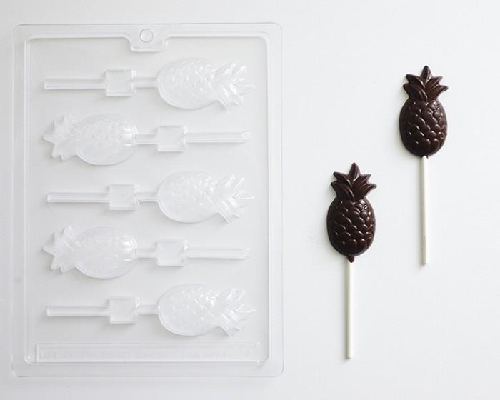 Pineapple Sucker and Lollipop Chocolate Mold