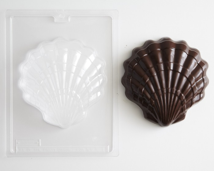 Oean Beach Large Clam Seashell Chocolate Candy Mold