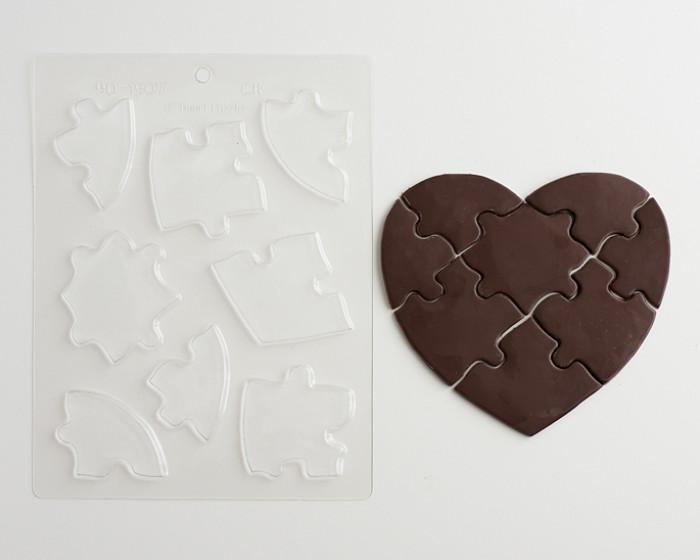 Heart Puzzle Chocolate Mold Cakegirls