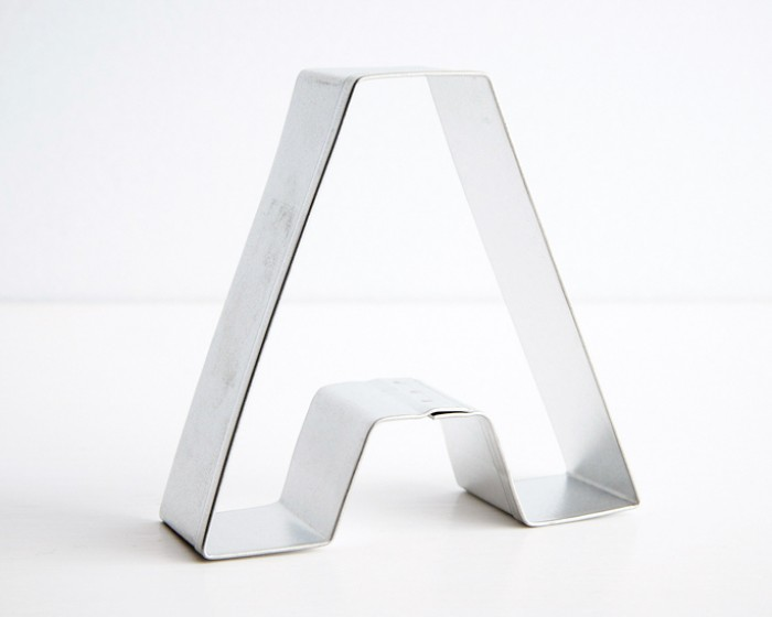 Letter A Shaped Cookie Cutter