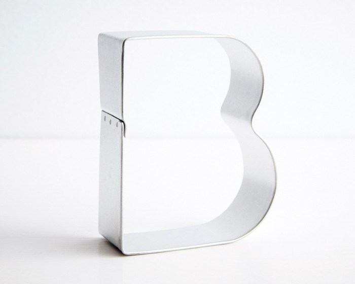 """Letter """"B"""" Shaped Cookie Cutter"""