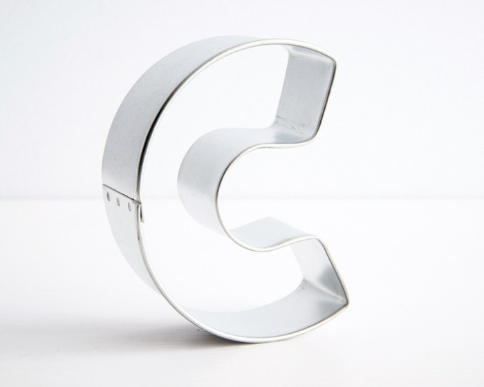 Letter c cookie cutter cakegirls for Cookie letter press