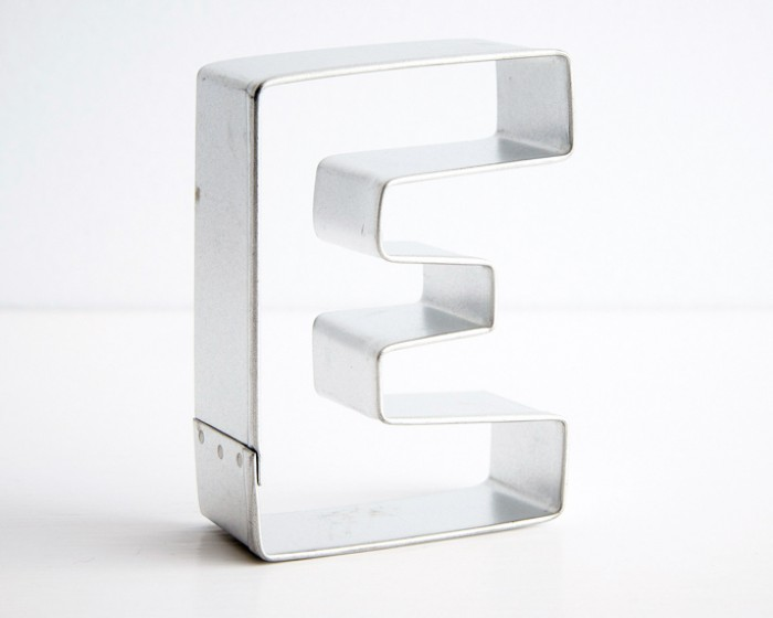 Letter E Cookie Cutter