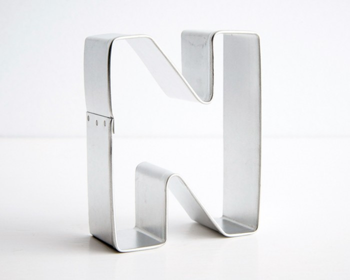 letter n shaped cookie cutter