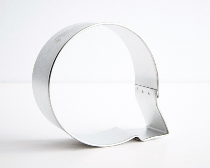 letter Q shaped cookie cutter
