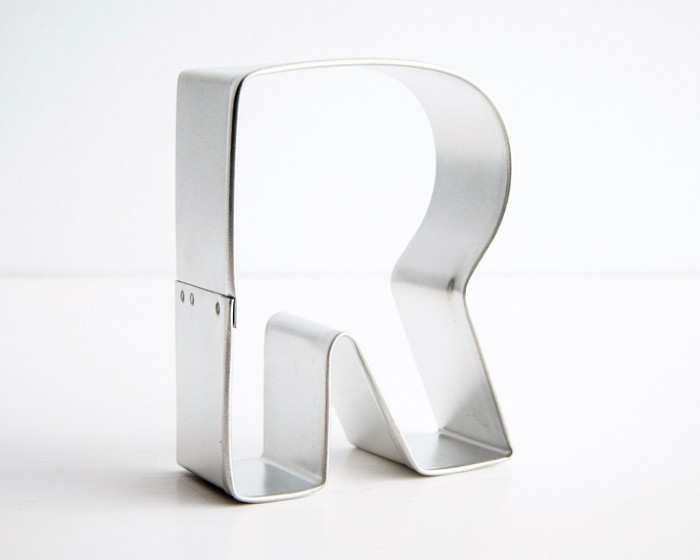 letter R shaped cookie cutter