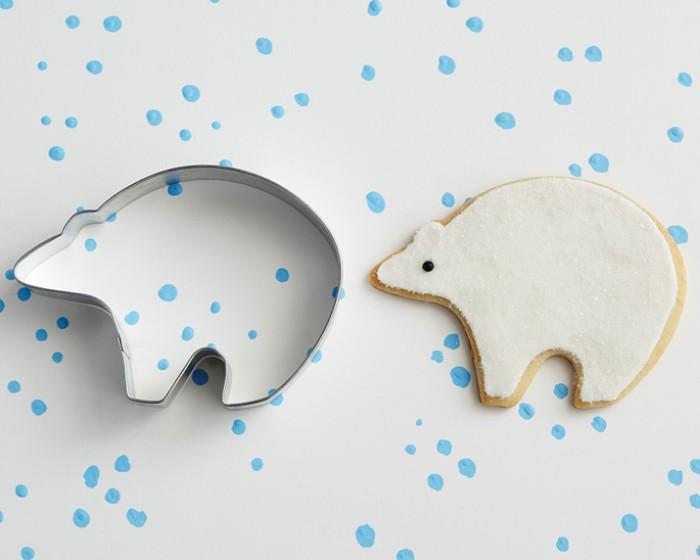 winter animal white polar bear cookie cutters