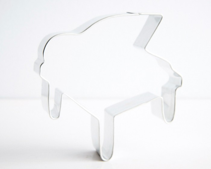 Music Grand Piano Shaped Cookie Cutter