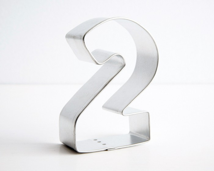 number two 2 shaped cookie cutters
