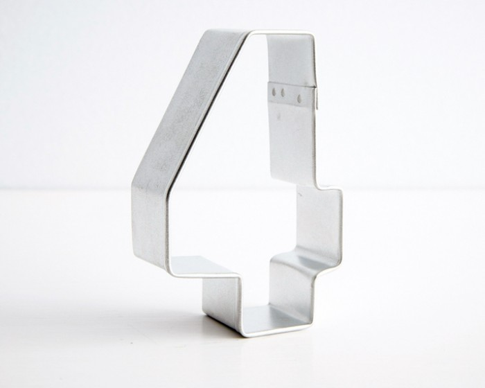 number four 4 shaped cookie cutters