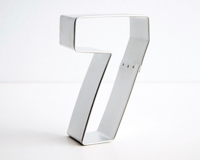 number seven 7 shaped cookie cutters