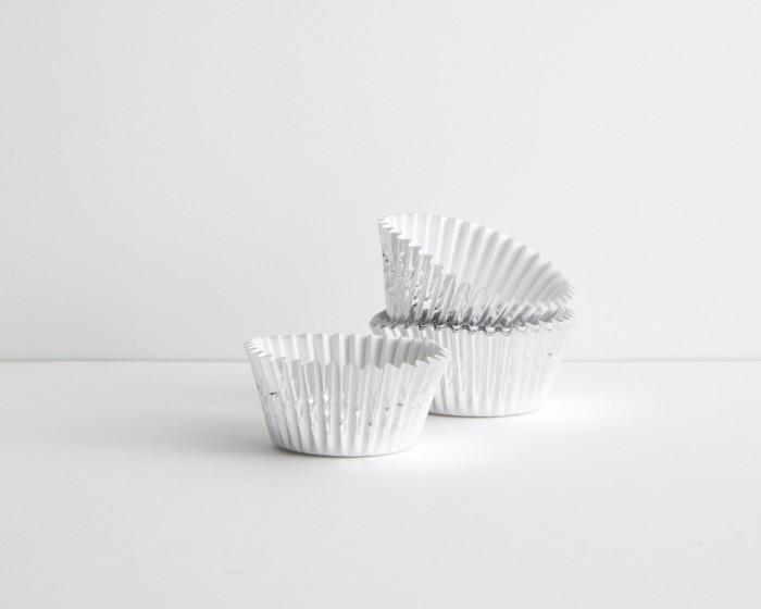 mini silver foil baking cup cupcake liner