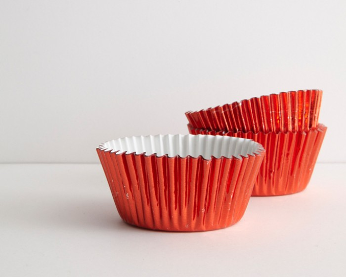 standard metallic red foil baking cup cupcake liners