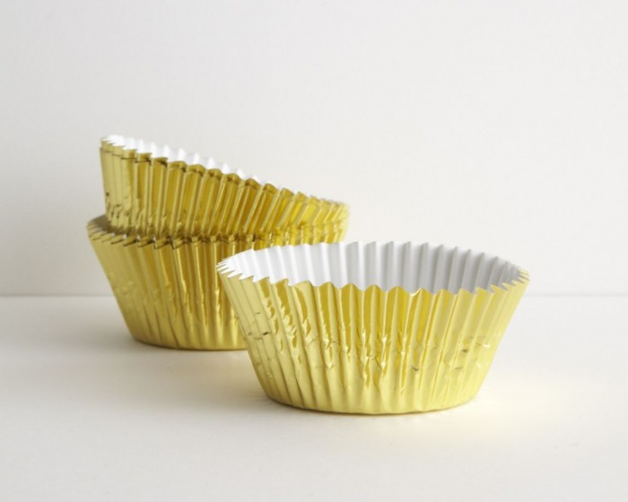 Gold Foil Baking Cups - Set of 30