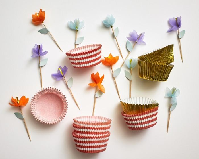 Paper Flower Cupcake Kit