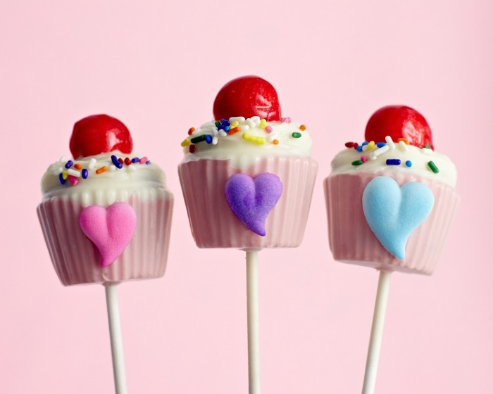 Cupcake Shaped Sucker Lollipop Chocolate Molds